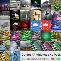 Fireworks atmospheres contenu : 12 volumes, more than 28 hours of external ambiances and sounds