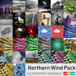 Fireworks atmospheres contenu : 2 volumes, 4.5 hours of sounds from the icy northern winds